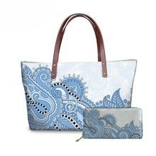 NOISYDESIGNS Women Paisley Pattern Handbags&Wallet Ladies Vintage Shoulder Tote Bag for Females Large Capacity Top-Handle Bags цена в Москве и Питере