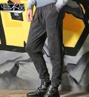 Losse persoonlijkheid casual broek heren broek harem pant heren voeten broek mode pantalon homme street nieuwigheid retro grijs