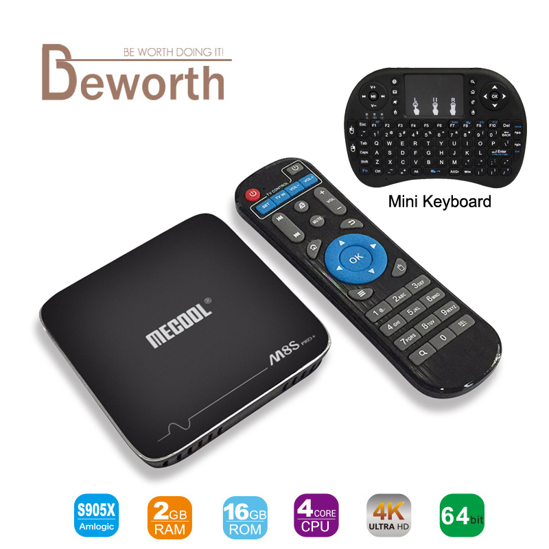 MECOOL M8S PRO Android 7 1 Amlogic S905X Smart TV Box 2GB 16GB WIFI 4Kx2K 60fps