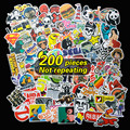 200 unids No repetir a prueba de agua pegatinas de decoración para El Hogar de Viaje Maleta Pared Bicicleta nevera Placa Deslizante Styling Car sticker