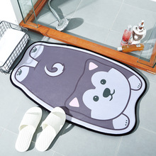 New Cute Cartoon Dog Carpet Water absorption Bathroom Anti-slip Mats Kitchen Gate Home Pad Family Blanket 50 * 80 cm