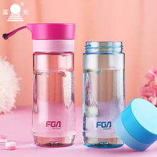 One Is All 500ml Plastic Water Bottle Personality Flower Teacup Trend Students Girl Resistant Outdoor Travel