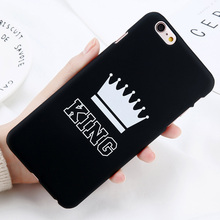 KING Queen Crown Phone Case For iPhone X 6S 7 8 Plus 5 5s SE