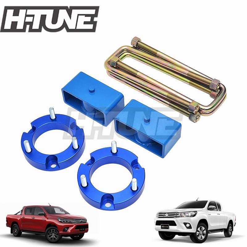 H-TUNE 4x4 accessoires 32mm entretoise avant et Kit de levage de Suspension arrière Kit de blocs UBolt pour Hilux Revo 2015 + +
