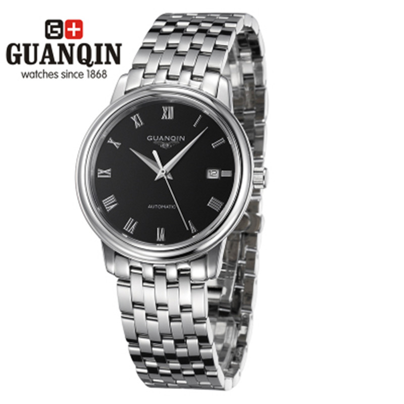 ФОТО 2016 Man Mechanical Watches Brand GUANQIN Watch with Date Sapphire Sale Casual Designer Watch Men Luxury Waterproof Wristwatches