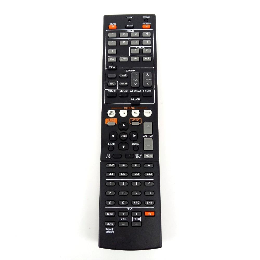 Nouvelle télécommande de remplacement pour YAMAHA RAV491 ZF30320 remplacer le RAV494 HTR-4066 RX-V475 AV récepteur Radio Fernbedineung