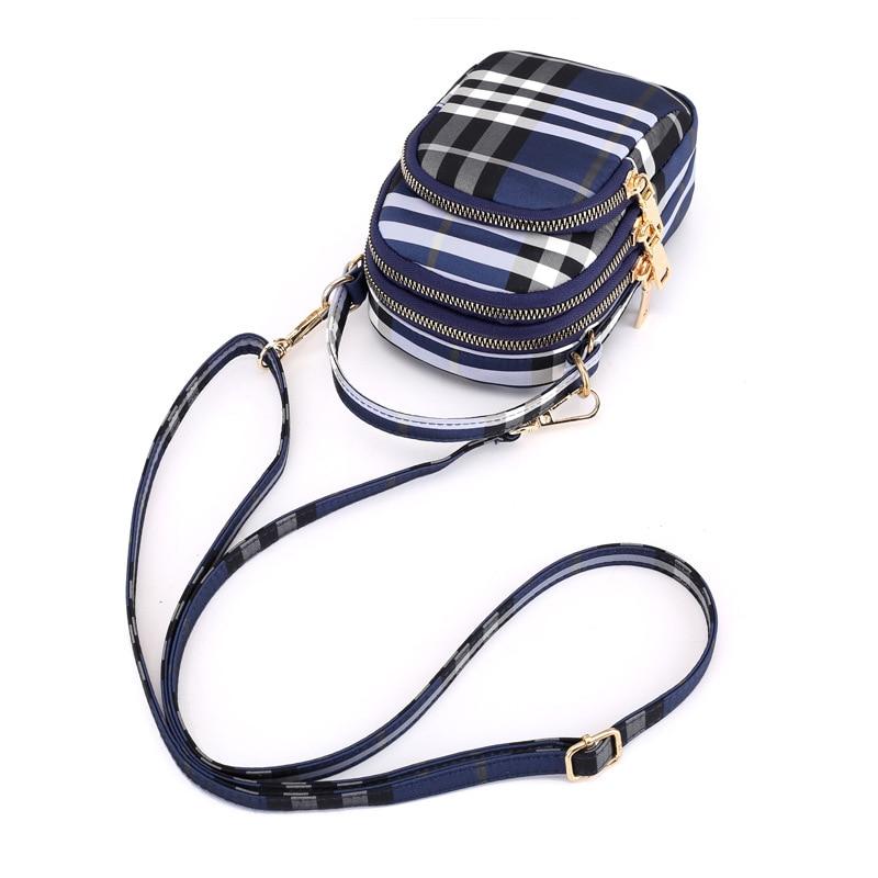 Women's mini bag trend single shoulder Messenger bag factory direct light waterproof nylon cloth bag mobile phone key bag 5