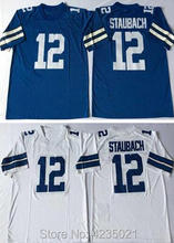 Mens Retro star  12 Roger Staubach Embroidered Throwback Football Jersey  size M-XXXL( a93b4f51b