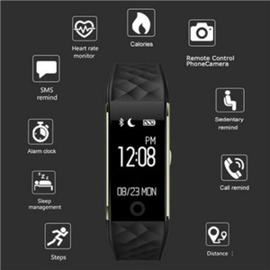 Image 3 - New Sport Smart Bracelet Heart Rate Monitor IP67 Fitness Bracelet Tracker Smart Wristband Bluetooth For Android IOS PK 115plus
