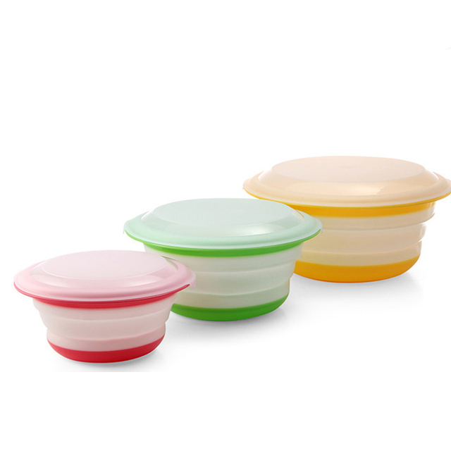 3Pcs/Set Folding Plastic Storage Bowl With Lid Dinnerware Sets Tableware Kitchen C&ing Accessories Supplies  sc 1 st  AliExpress.com : dinnerware plastic - pezcame.com