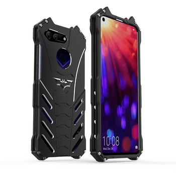 R-JUST Luxury Metal Aluminum Case For HUAWEI Honor 8 9 10 Lite Batman Design Protection Hard Cover For Honor V20 V10 /Play Case image