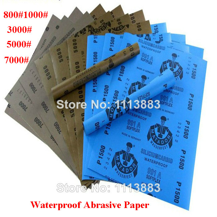 5 Sheets Kit Wet/Dry Waterproof Abrasive Sanding Paper Grinding Polishing Tools