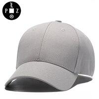 PLZ Baseball Cap Voor Mannen Vrouwen Unisex Zonnehoed Grijs katoen Mode Leisure Vakantie Vakantie Hoeden Verstelbare dad hoed Paar Caps