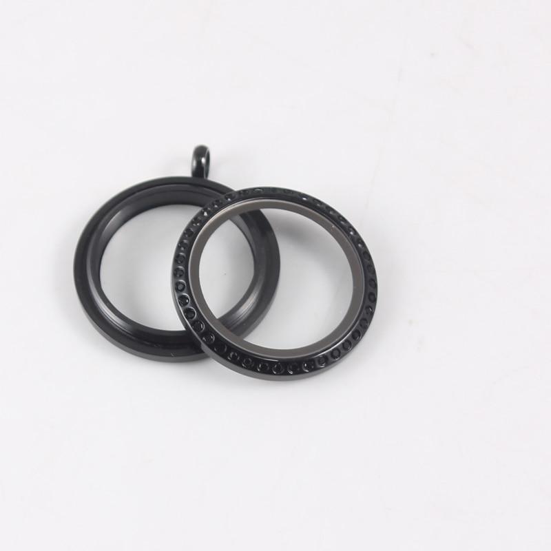20mm Round WaterProof Floating Locket Pendant Stainless Steel Screw Crystal living memory Locket in Pendants from Jewelry Accessories