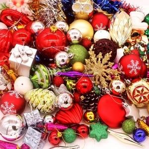 Image 3 - 70 יח\אריזה יפה מעורב חג מולד תליית קישוטי הניצוץ צבע כדור חג המולד עץ חג השנה החדשה קישוט