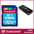 Marca transcend wi-fi cartão sd de 32 gb classe 10 cartão de memória flash leitor de cartão & cartão para canon nikon casio fujifilm olympus câmeras