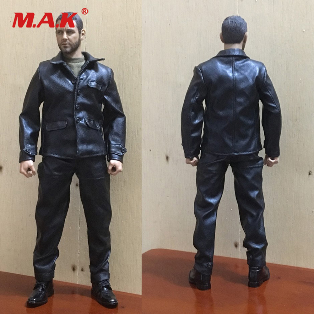 1//6 Scale Muscle Man Artificial Leather Shorts Black for 12in Action Figure