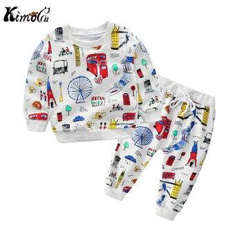 7df9efc6c Kimocat de niños ropa de bebé chica de dibujos animados de primavera y  otoño de manga larga suéter de algodón elástico conjunto niño ropa de niña