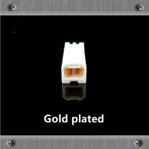 Image 4 - Or Plaqué Cuivre USB Type dinterface Un Type B Mâle jack usb Connecteurs adaptateur pour câble audio DAC Imprimante ligne bricolage câble USB
