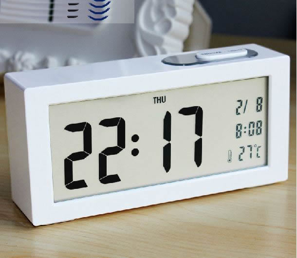 Simple large screen LED Clock large font electronic clock Personalized Noctilucent bedside clock Office desktop Light clock