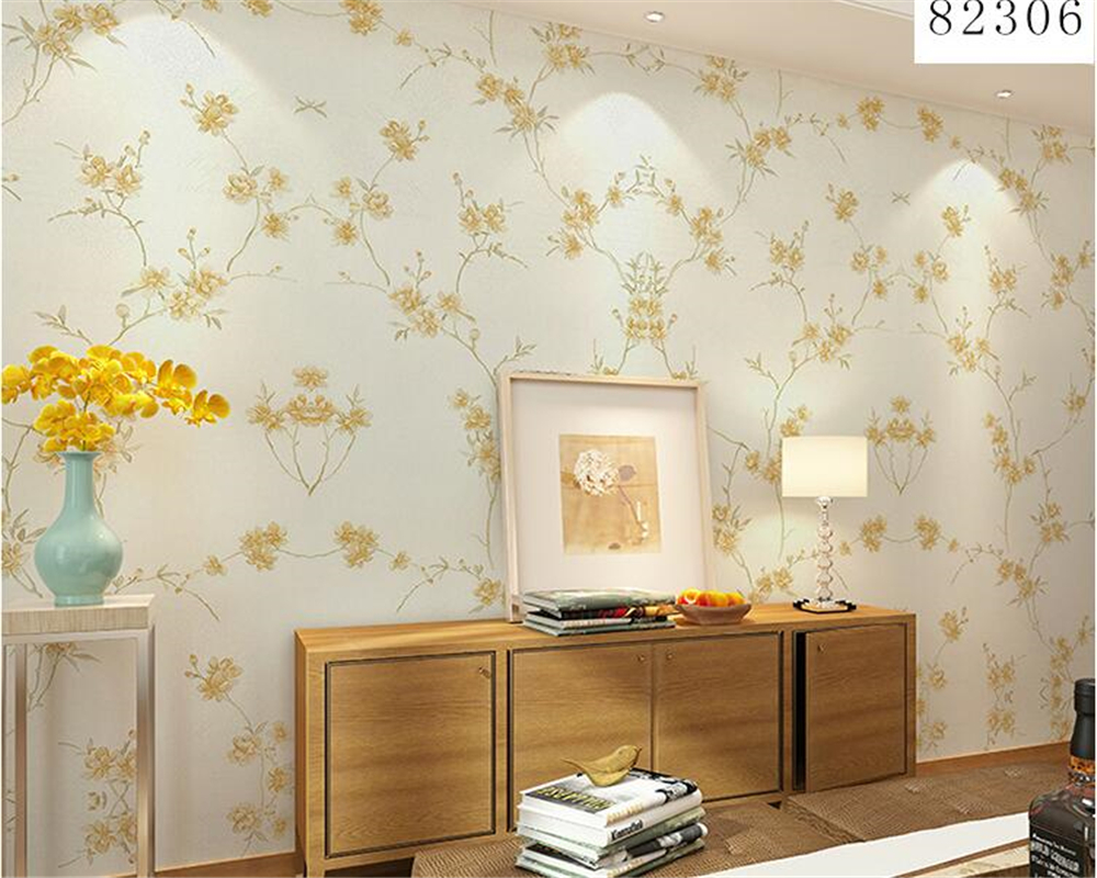 beibehang Nonwovens Warm Aesthetic papel de parede 3d Wallpaper Floral Pastoral Living Room Bedroom Background Wallpaper tapety beibehang papel de parede pastoral environmental nonwovens wall paper warm small floral living room bedroom background wallpaper