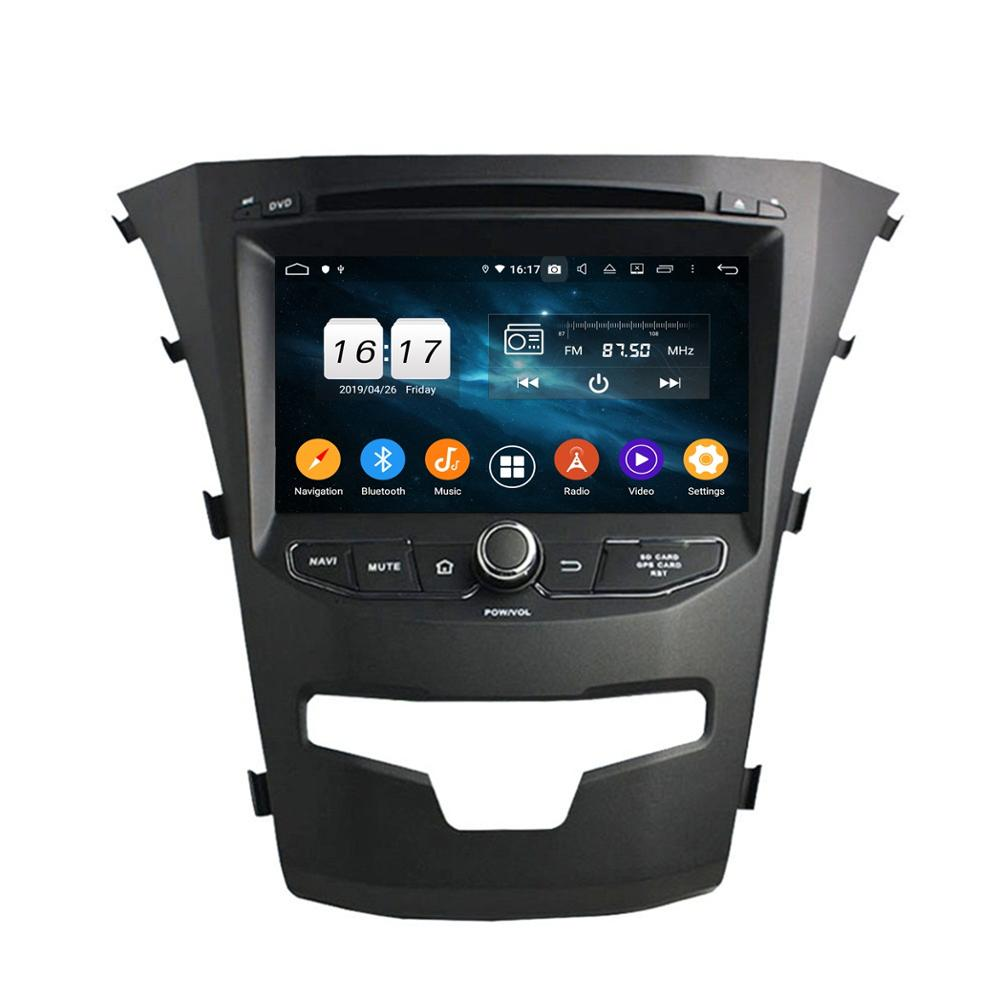 IPS Octa Core 7 Android 9.0 Car DVD Head Unit for SsangYong Korando 2014 2015 stereo Radio GPS WIFI Bluetooth USB DVR image