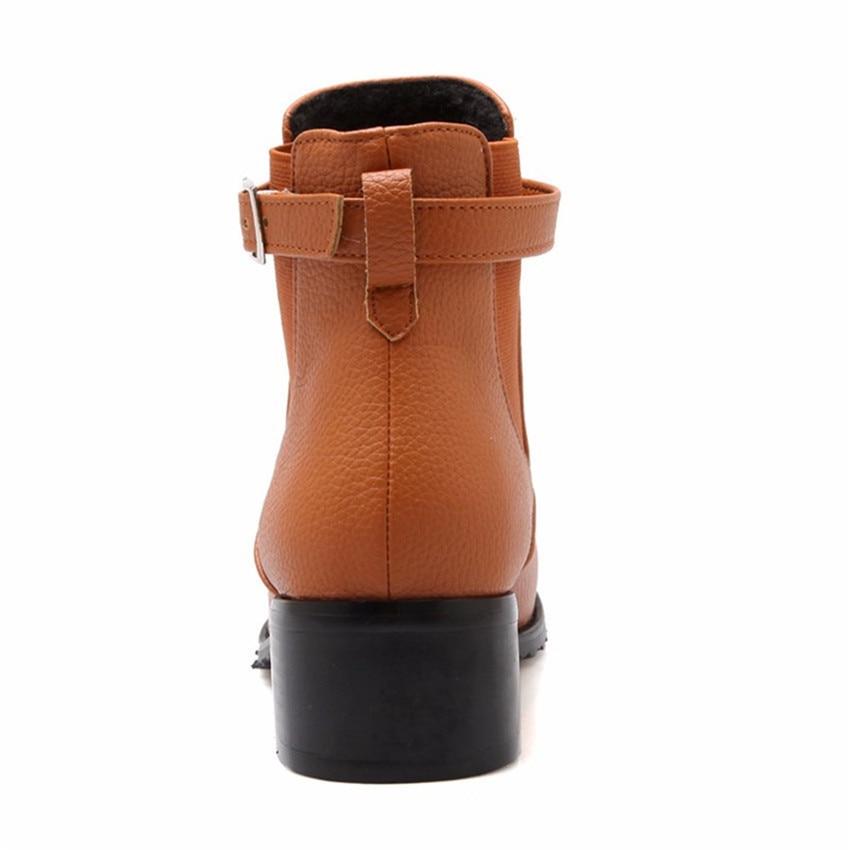 Spring Autumn Women Ankle Boots Square Low High Heel Woman Short Boots Shoes High Quality Plus Size 34-40.41.42.43 botas botte