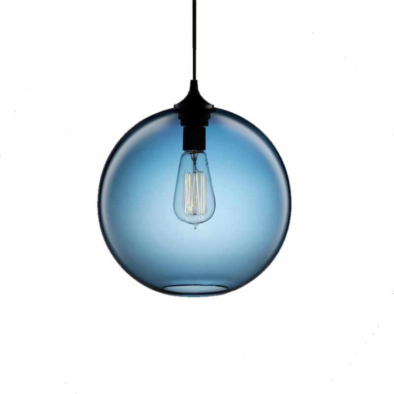 Gzmj工業レトロledペンダントライトガラスペンダントランプホルダーロフトバーランプランプシェードライト家の装飾器具abajurランプ