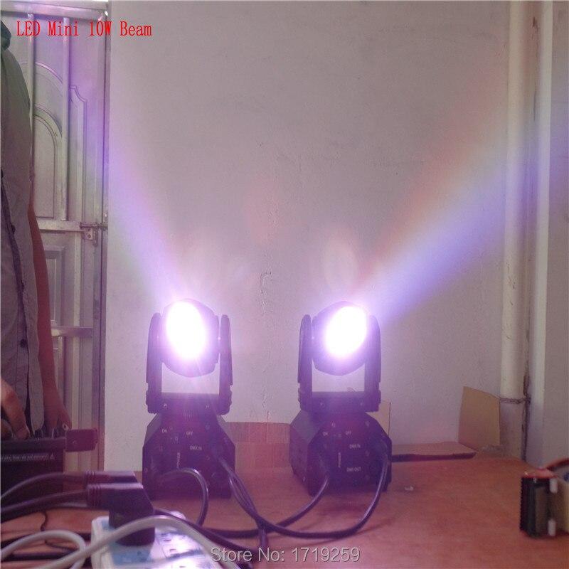 ФОТО 4pcs/lot Mini LED 10W RGBW Beam moving head light beam High Power Light with Professional for Party KTV Disco DJ