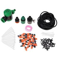 25m Outdoor DIY Automatic Drip Irrigation Hose Watering System Plant Flower Self Watering Controller Tool Garden Accessaries
