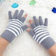 SUOGRY зимние шерстяные мужские и женские эластичные перчатки с полупальцами теплые варежки без пальцев