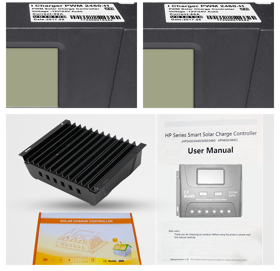 Us 2832 15 Off Easun Power Solar Controller Charge Pwm 50a 60a Lcd Voltage Regulator 12v 24v System Charger In Dc Circuit Smart 30a