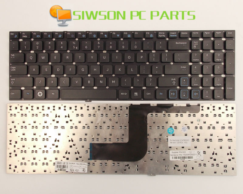 New Keyboard US Version For Samsung RV511 NP-RV511 NP-RV511-A01US Black