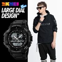 New Relogio Masculino Sports   Watch   Men Clock Digital LED   Dual   Time   Display   Waterproof Alarm Man Wristwatch Chronograph Backlight