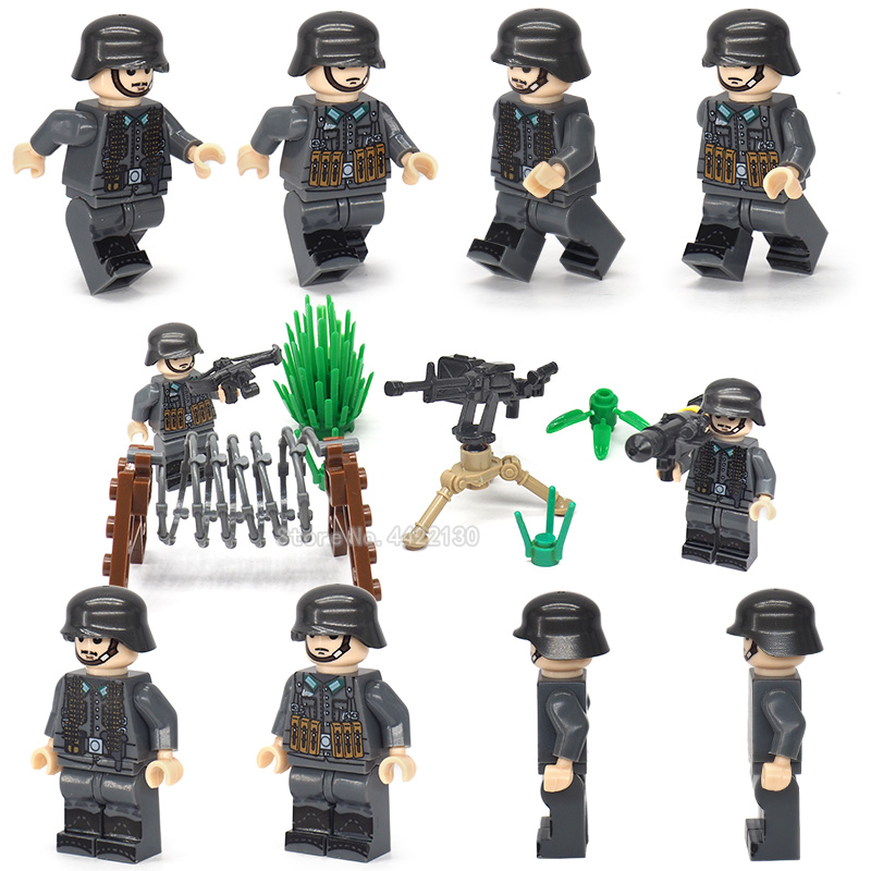 Figures military army Assemble model Building Blocks Special force soldier Mini Weapons Gift for children toy ww2 MOC Legoinglys