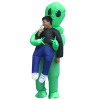 Disfraz Mujer Inflatable Costumes Anime Cosplay Scary Green Alien Dinosaur Turkey Mascot Halloween Costumes For Adult Women Men