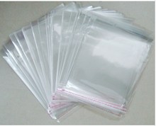 OMH Wholesale 50PCS 5×7 18x23cm Double layer OPP stickers self adhesive Transparent plastic bag  jewelry Packaging bags Gift bag