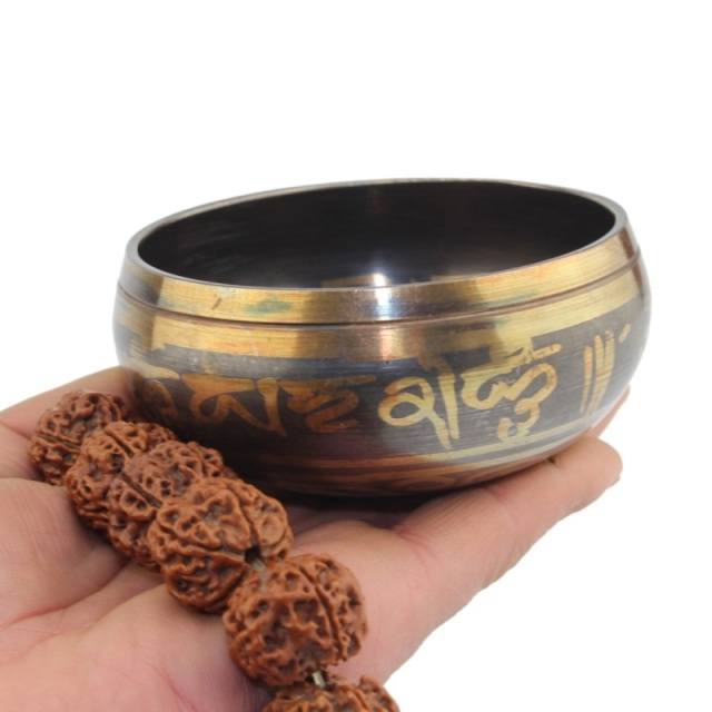 Tibetan Singing Bowl with Striker (8-12.5 cm) 1