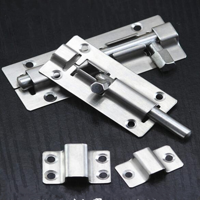 Professional stainless steel Sliding bolt door lockSafety Lock for wooden doors protection gate latch   furniture accessories