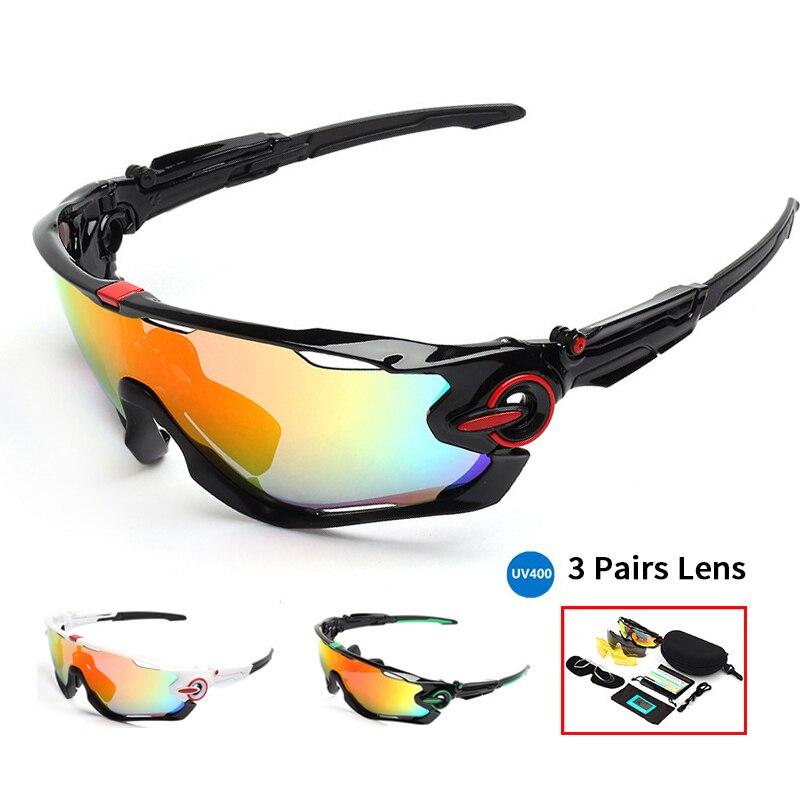 все цены на Polarized Cycling Glasses Bike Men Motorcycling Sunglasses Bicycle Eyewear Outdoor Sport 3 Lens Sun Glasses Gafas De Ciclismo онлайн