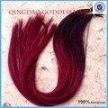 Cabelo virgem Brasileiro queratina i ponta extensões de cabelo humano ombre extensões do cabelo da fusão com extensão i ponta 1g/strand 100 g/peça