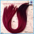 Queratina extensiones ombre pelo virginal Brasileño inclino el pelo humano extensiones de cabello de fusión con inclino la extensión 1g/capítulo 100 g/unid
