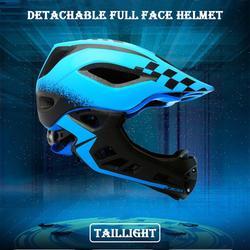 Lekki kask rowerowy odpinany kask fullface oddychający bezpiecznie czapka rowerowa dla dzieci dzieci MTB Road Bike ochrona głowy w Kaski rowerowe od Sport i rozrywka na