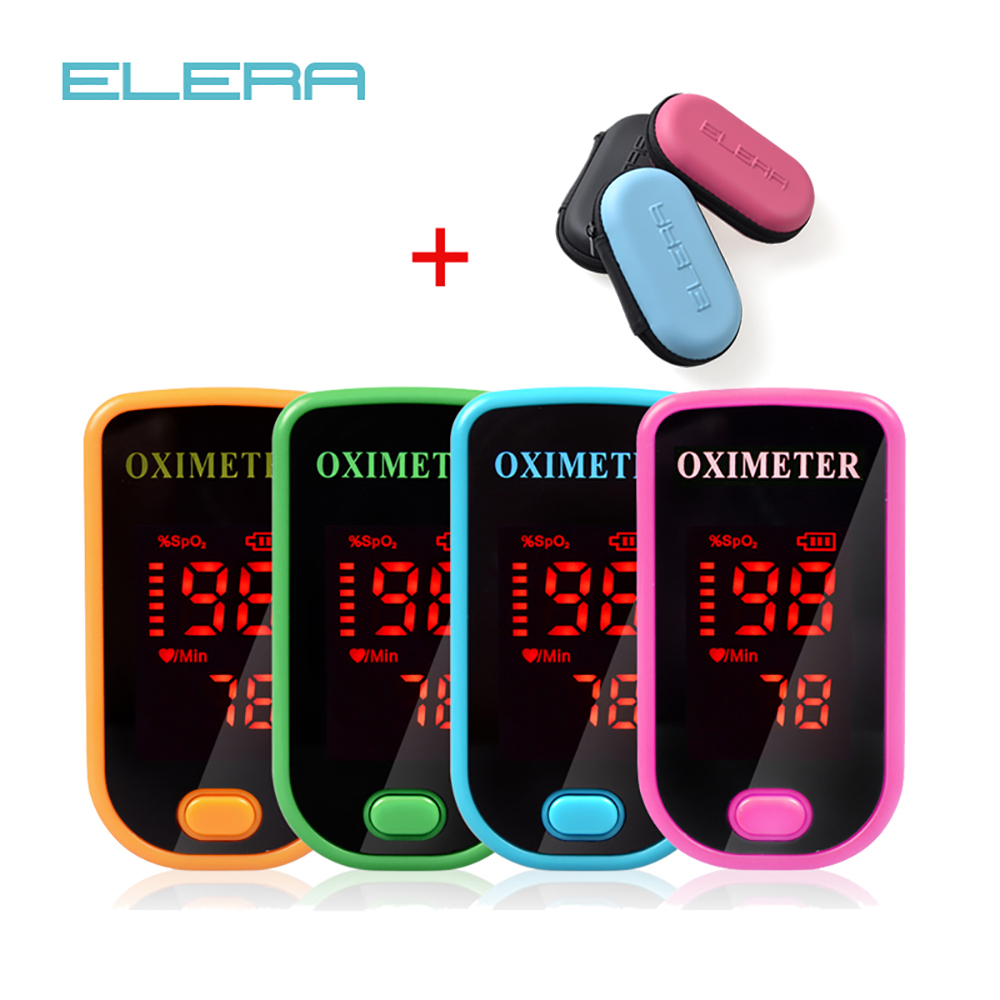 ELERA Digital Finger Oximeter Blood Oxygen Saturation SpO2 PR Health Care LED Display CE FDA oximetro