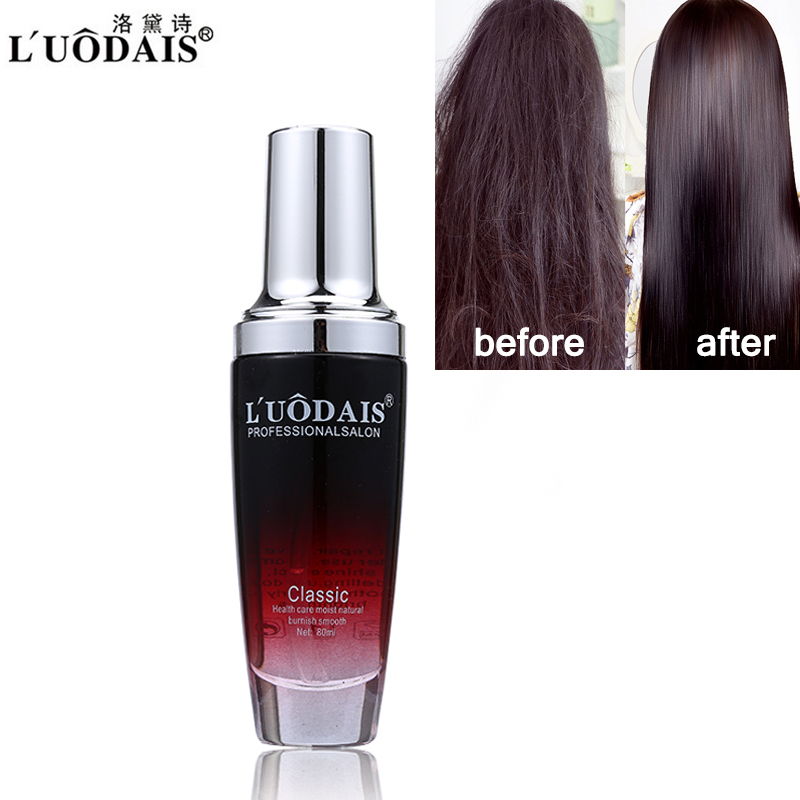 LUODAIS Argan Oil Hair Repair Serum Fragrance Smoother Shine Protect Hair Essence For Dry Damaged Hair & Scalp Treatment 80ml