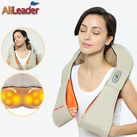 Alileader Professional Massager Simulated Human 4D Shiatsu Massage Pillow With Heat For Back Neck Body Massage