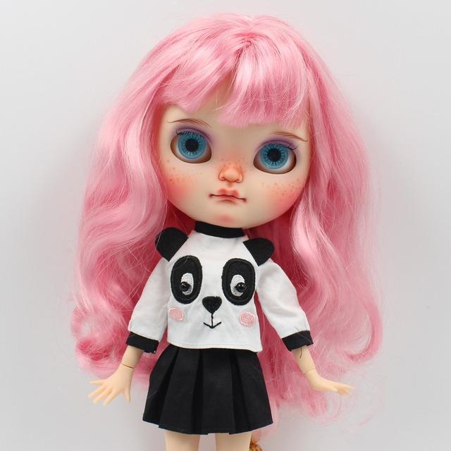 Neo Blythe Doll Panda Shirt With Skirt