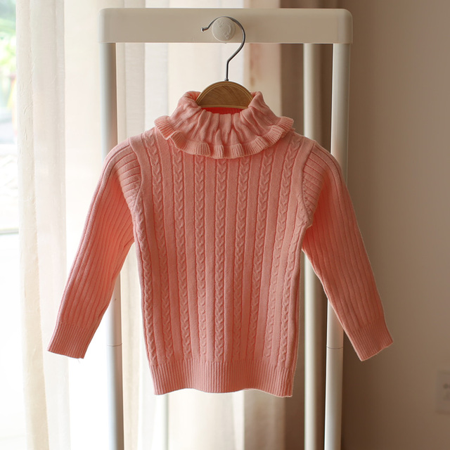 176a0c917 baby girls cotton pullover turtleneck sweater kids knitted sweater ...