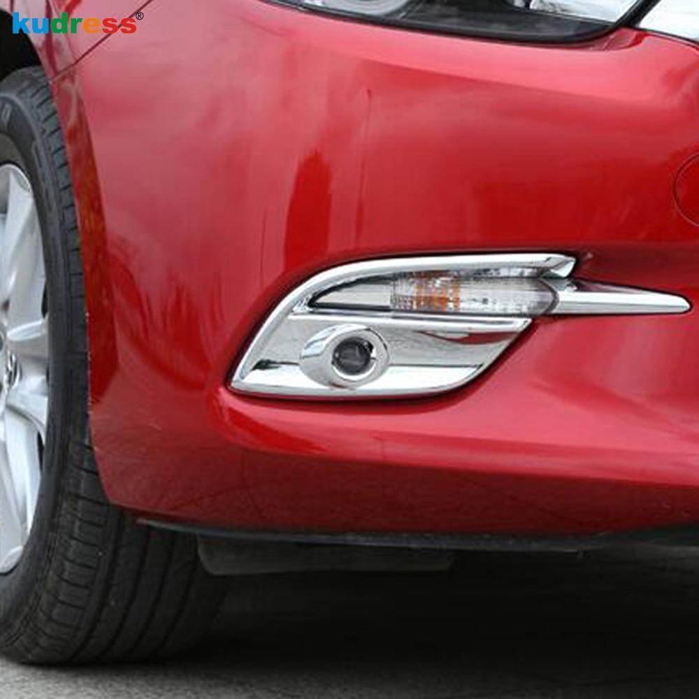 For Mazda 3 M3 Axela 2017 2018 ABS Chrome Car Front Fog Light Lamp Cover Moulding Trim Protectors Accessories 2pcs/set
