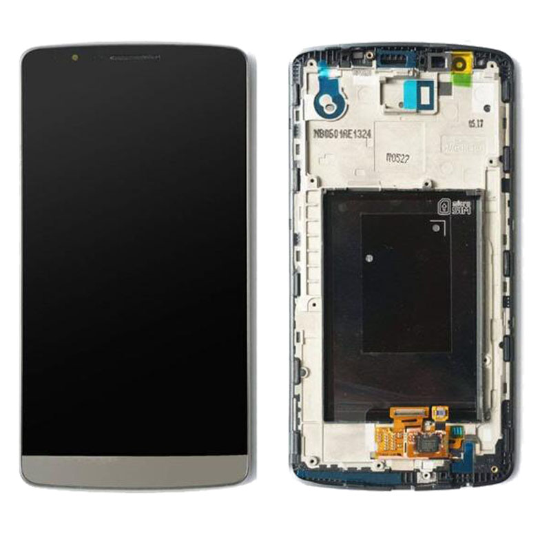 100% Tested White Grey Gold For LG G3 D850 D851 D855 LCD Display Touch Screen With Frame Assembly100% Tested White Grey Gold For LG G3 D850 D851 D855 LCD Display Touch Screen With Frame Assembly